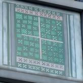 PW - Nine-Patches an dem Gebäude Karstadt