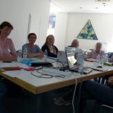 Unsere Regionalvertreterinnen bei der Arbeit - hier Schulung zur neuen Homepage