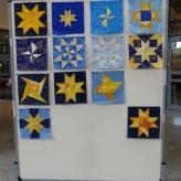 Sterne, die abgegeben wurden für die Mitmachaktion zu den Patchworktagen