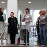Unsrer Vorstand (von links: Heike Költgen, Sabine Weninger-Dietrich, Barbara Lange, Birgit Henning (etwas versteckt) und Elke Burko