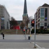 Treppe gegenüber dem Hauptbahnhof