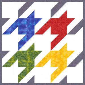 Kurs Nr. 21-2-25-3 Tesselation 2 Hahnentritt und Katzenköpfe (One-Patch-Muster)