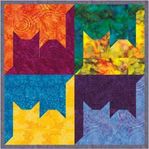 Kurs 21-3-3 Tesselation 3 Frösche und Katzen (One-Patch-Muster)
