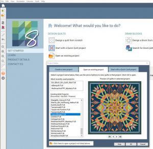 Kurs 21-3-5-1 Möglichkeiten mit der Quiltsoftware EQ8 (Erweiterungskurs 2)