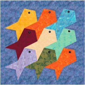 Kurs Nr. 21-5-6-3  Tesselation 4 Fische und Hunde (One-Patch-Muster)