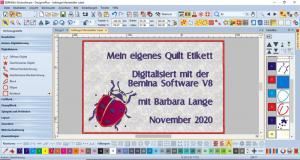 Kurs Nr. 20-11- 29 Digitalisieren mit Bernina Designer Plus 8
