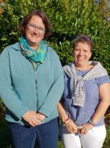 links Hanna Schaper, rechts Simone Zacher