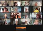 Die EQA-Repräsentantinnen beim online meeting